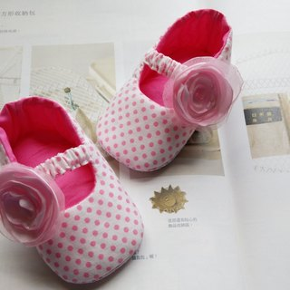 Little white flower pink yarn doll shoes baby shoes baby shoes