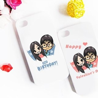 ★ GiftPaint ★ painted surprise Valentine & amp; custom phone shell [Double bivalve]