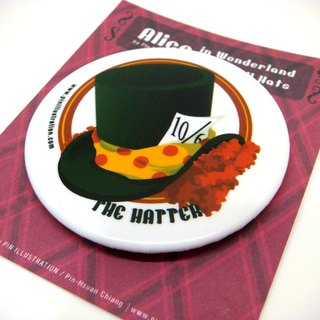 【Pin】Hatter│Alice in Wonderland│5.8 CM badge│Mint blue on the back