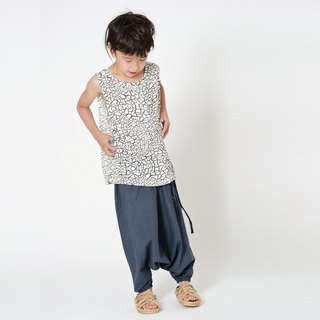 [Nordic design]Swedish organic cotton children's clothing trousers Bora dock_Grey black Shampoodle children's clothing