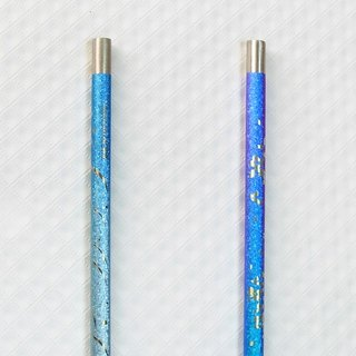 Titanium Love Earth Series - Japanese made pure titanium ECO environmentally friendly straw 2 into - expensive purple + deep blue