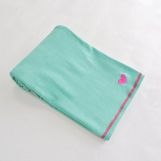 Dual-use scarf - Aquamarine green