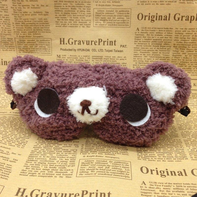 棉花糖動物眼罩-可可牛奶熊