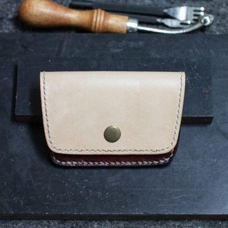 Leather handmade leather purse (a card layer)