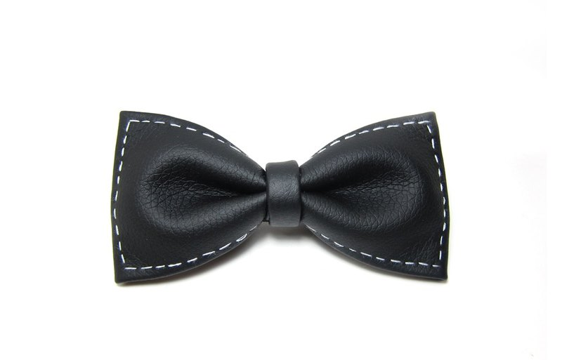 ▲ black and white boundary tie Hand-made Bow Tie
