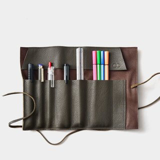 【Wo Shami Sushi】 Leather Pens Leather Leather Pencil Box Tool Bag Pen Tape Scrolls Graduation Gift Passenger Letter Word When Gift Daddy Day Father's Day