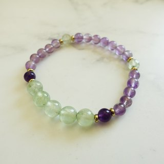 Xiaoqing heart: Natural stone Amethyst Purple grape customized elastic bracelet