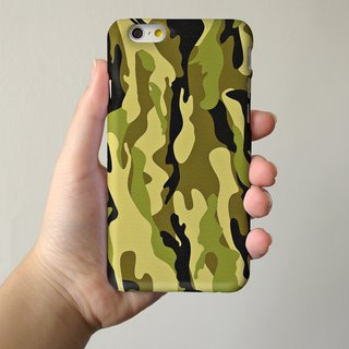 Green Camouflage Pattern 3D Full Wrap Phone Case, available for  iPhone 7, iPhone 7 Plus, iPhone 6s, iPhone 6s Plus, iPhone 5/5s, iPhone 5c, iPhone 4/4s, Samsung Galaxy S7, S7 Edge, S6 Edge Plus, S6, S6 Edge, S5 S4 S3  Samsung Galaxy Note 5, Note 4, Note 3
