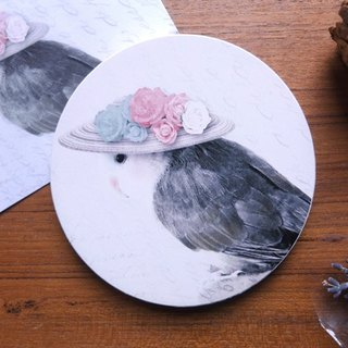 "Bad-tempered parrot series ─ "" Versailles Guigui "" ceramic coasters"