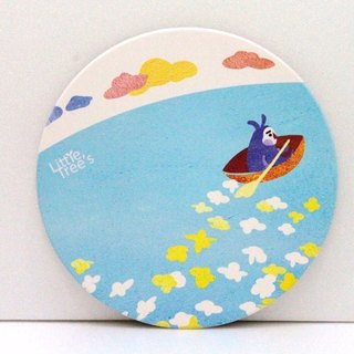 Ceramic coaster - paddled boat to find you