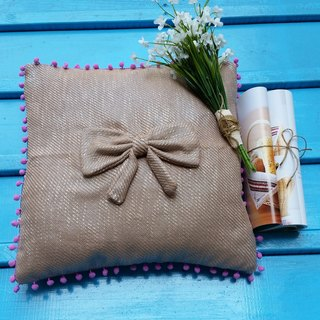 """Romantic life"" Fen flower hair ball pillow / pillow"