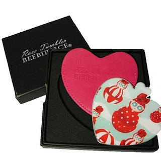 Beebipeace heart-shaped mirror