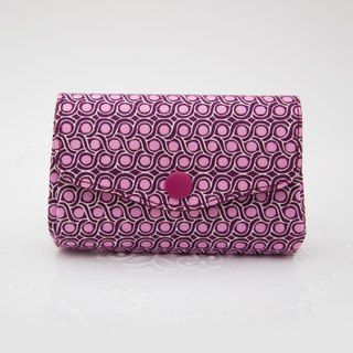 Elegant and beautiful three-layer small object storage coin purse - purple red twist