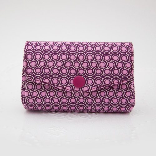 Elegant and beautiful three-tiered storage purse - purple twist