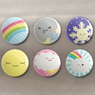 Weather Weather - Magnet (6 in) / Badge (6 in) / Birthday Gift [Special U Design]