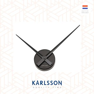 Karlsson Wall clock Little Big Time Black Mini, designed by Boxtel & Buijs Netherlands Karlsson LBT Mini black designer wall
