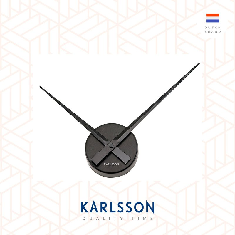 Karlsson Wall Clock Little Big Time Black Mini Designed