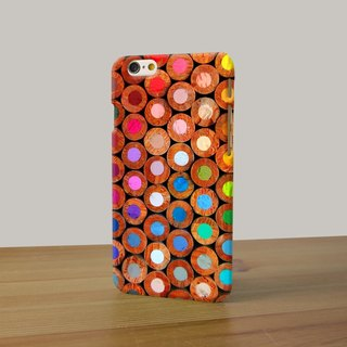 Color Pencil pattern 3D Full Wrap Phone Case, available for  iPhone 7, iPhone 7 Plus, iPhone 6s, iPhone 6s Plus, iPhone 5/5s, iPhone 5c, iPhone 4/4s, Samsung Galaxy S7, S7 Edge, S6 Edge Plus, S6, S6 Edge, S5 S4 S3  Samsung Galaxy Note 5, Note 4, Note 3,  N