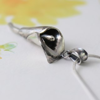 Sterling Silver Necklace / Calla