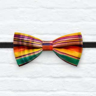 Style 0061  彩格 印花 系列 領結 colorful plaid pattern bowtie