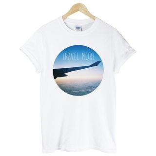TRAVEL MORE white t shirt