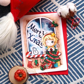 【Pin】Wear Christmas on!│Print│Christmas card with envelope at your choice