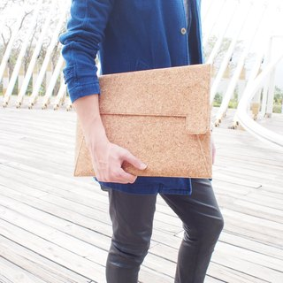 Cork Sleeve Case / Cover Bag / Briefcase / Clutch for Macbook Pro/Retina 15''