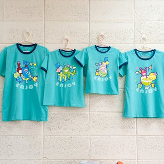 【Ladie La ~ ~ (big girl / mother)] parent-child / short-sleeved T-shirt