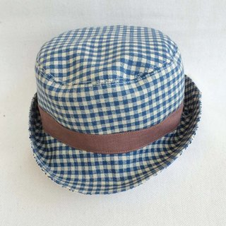 Va manual bonnet Series Plaid casual-sided hat