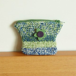 Hand-Knitted Purse--Flower Farm