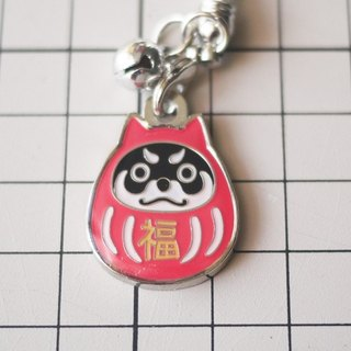 [Warehouse house] Dharma Shiba black wood metal accessories phone pendant strap