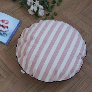 [Cover only] canvas stripes cushion cover braid R