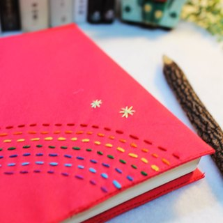 Hand clothes for the book by chance to meet with you [notebook] light pink canvas subsection (Big = A5)