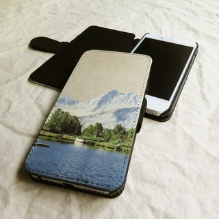 Mountain and Lake - Designer,iPhone Wallet,Pattern iPhone wallet