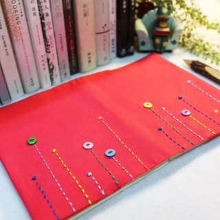 Hand-made book clothing notebook [rain song] bright pink canvas section (A5)