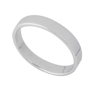 Minimalist fashion Silver Ring (3.2mm)