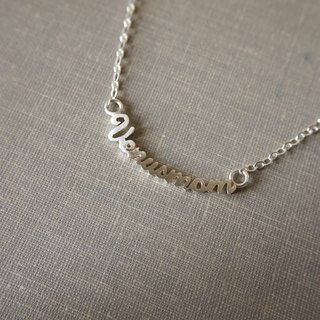 Engraving Silver Necklace