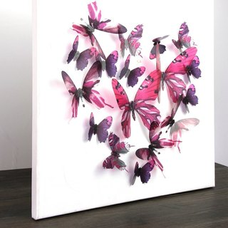HomePlus 3D STREAK BUTTERFLY - ROSE