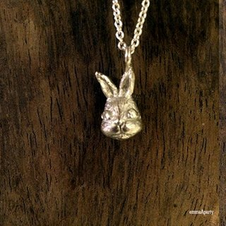 EmmaAparty handmade sterling silver necklace '' rabbit bean '' (three-dimensional works)