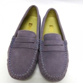 Fort Tony Wang handmade leather shoes (female) [frosted cow / bean bottom / purple]