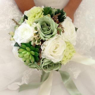 Wreaths Manor*Handmade jewelry bouquet*wedding small matter*customer for the development of*Valentines Day Special - Pre ~ ~ ~ ~ green artificial flowers series NT $ 1180