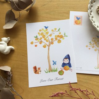 * Forest * orange trees postcard (cs04)