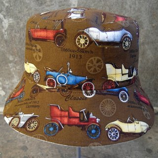 Retro car bi-directional fisherman hat