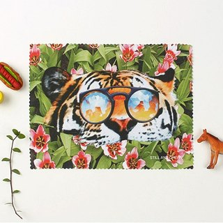 STILL AND CHEW wipe mirror cloth - TIGER OVER FLOWER