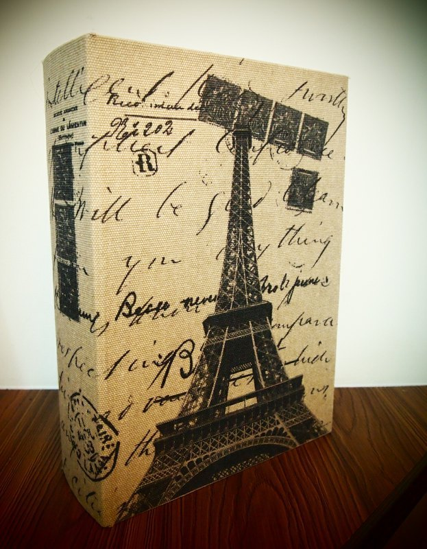 France Eiffel Tower medium books kit / storage box book (grocery / Accessories / Tool / jewelery) Containers