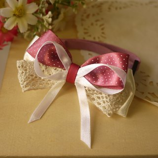 Safety x pet collar pink roses. Lace little cats and dogs / Collar / tie / Jojo ♥ cherry pudding Cherry Pudding ♥