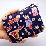拉鍊零錢包,卡片包,鑰匙包,耳機包,小物包 (日本娃娃) (ZS-47)