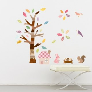 Smart Life creative seamless wall sticker color tree