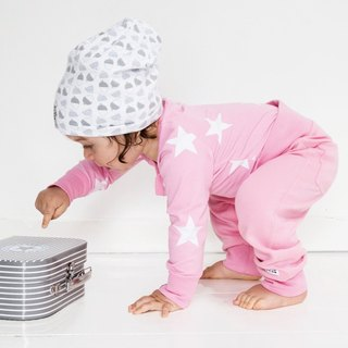 [Sweden] made of organic cotton cover Dudu pants Baby pink (for 18M-24M) Infant