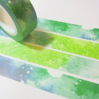 Watercolor paper tape - Gradient green